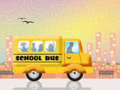 Children on the school bus — Stock Photo