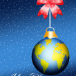 World Christmas ball — Stock Photo
