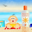 Sunscreen for baby — Stock Photo