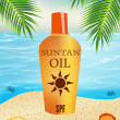 Suntan oil — Stock Photo