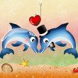 Dolphins in love — Stock Photo