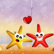 Starfish in love — Stock Photo