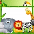 Stock Photo: Safari animals cartoon