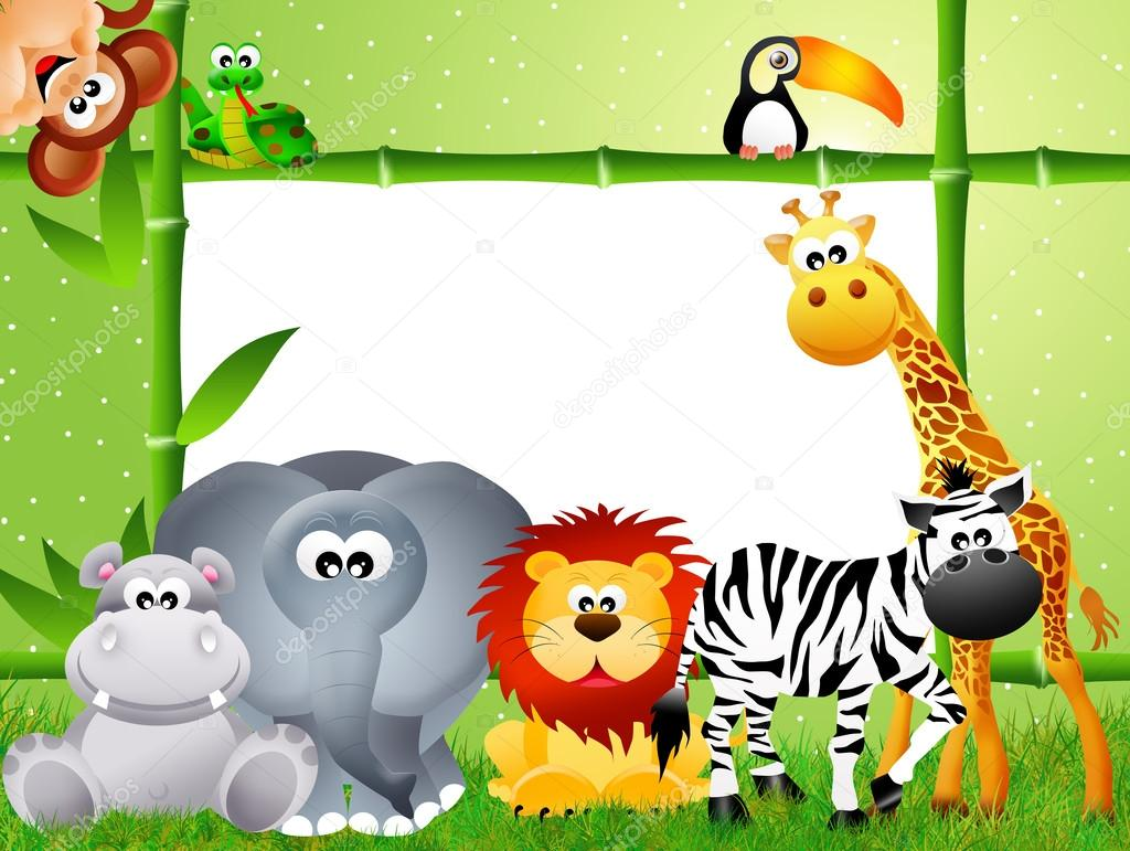 Safari animals cartoon — Stock Photo © adrenalina #27483821