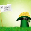 St Patricks hat and clover — Stock Photo #27662247
