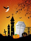 Cemetery of Halloween — Stock Photo