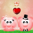 Pigs in love — Stock Photo #27902371