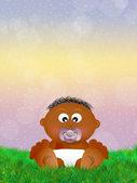 赤ちゃん黒 — ストック写真