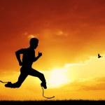 Man runs — Stock Photo