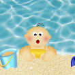 Baby on vacation — Stock Photo