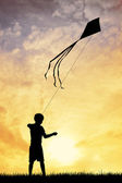 Child with kite — Stock Photo