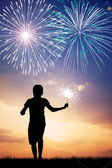 Watch the fireworks — Stock Photo