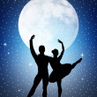 Stock Photo: Dancers in the moonlight