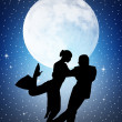 Tango silhouette — Stock Photo #29176223