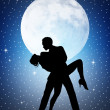 Dancers in the moonlight — Stock Photo