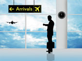 Arrivals in airport — Stock Photo