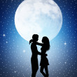 Romantic couple in the moonlight — Stock Photo #29186257