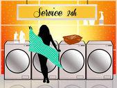 Servicio de lavandería — Foto de Stock