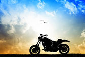 Motorcycle silhouette — Stock Photo