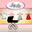 Shop for baby clothes — Stok fotoğraf