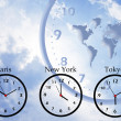 Time zones — Stockfoto
