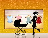 Baby shop — Stock Photo