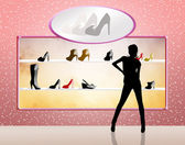 Shop for shoes — Stock Photo