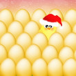Chick at Christmas — Stock Photo