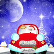 Stock Photo: Car of SantClaus