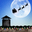 SantClaus sleigh — Stock Photo #30877343