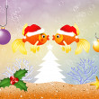 Red fish at Christmas — Stock Photo