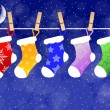 Christmas socks — Stock Photo
