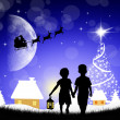 Children at Christmas — Stock Photo