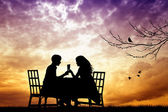 Romantic dinner — Stock fotografie
