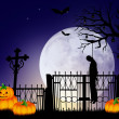 Halloween cemetery — Stock Photo