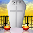 Grave in the cemetery — Stock Photo