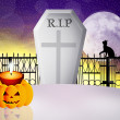 Stock Photo: Halloween grave