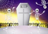Skeletons at Halloween — Stock Photo