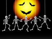 Halloeeen skeletons — Stock Photo