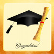 Congratulations for graduation — Stock Photo
