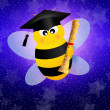 Bee graduate — Stock Photo