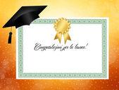 Herzlichen glückwunsch für die graduierung! — Stockfoto