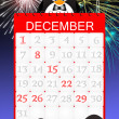 Penguin celebrate the New Year — Stock Photo