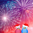 Birds celebrate the New Yea — Stock Photo