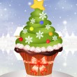 Christmas cupcake — Stock Photo #32813829