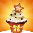 Christmas cupcake — Stock Photo #32816237