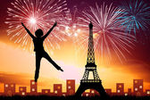 Silvester in paris — Stockfoto