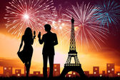 New Year in Paris — Stock Photo