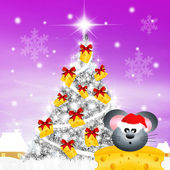 Mouse at Christmas — Stock Photo