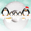 Penguins in the igloo — Stock Photo #32879161